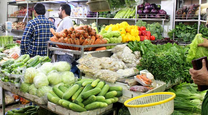 vegetables in INA Market