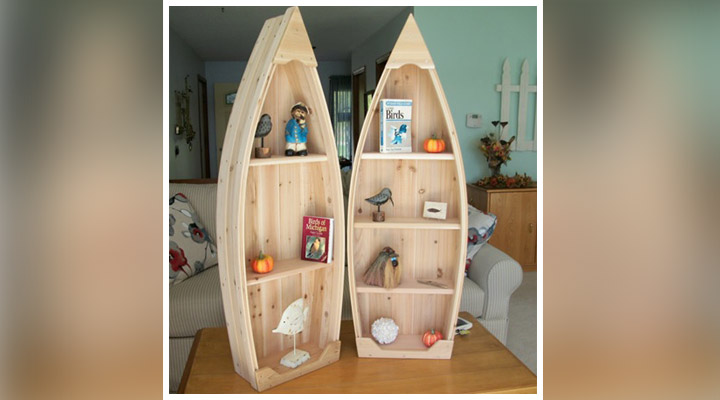 Boat Bookshelf ideas