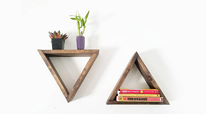 Triangle Bookshelf ideas