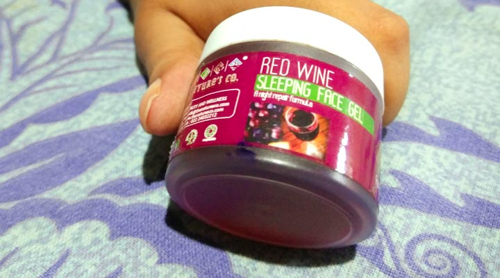 red wine sleeping face gel review