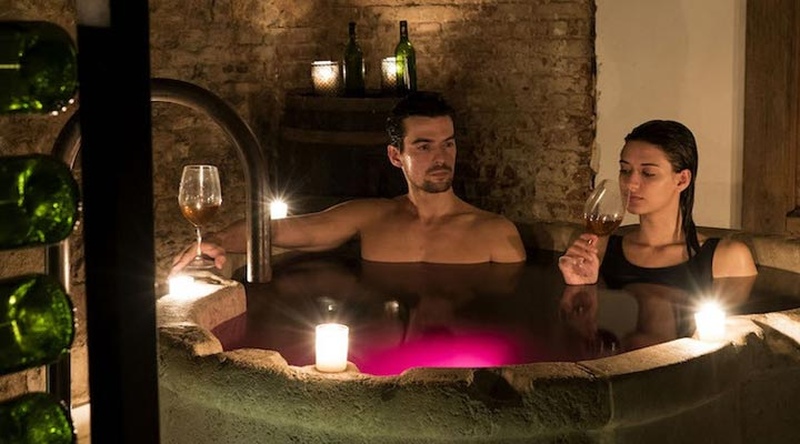 benefits of red wine bath