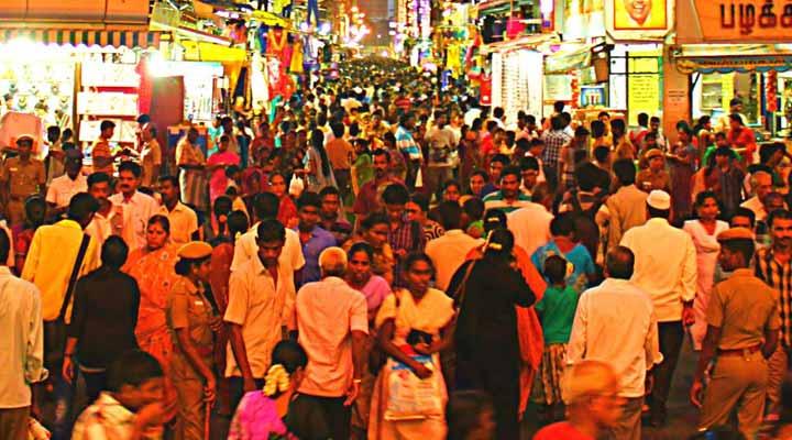 street shopping in Chennai