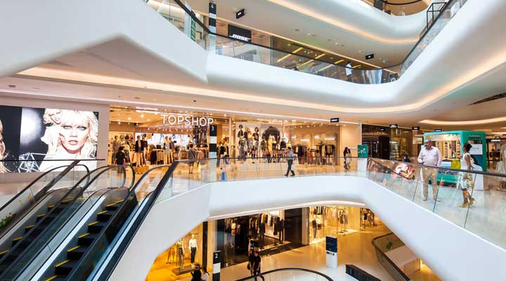 type of retail industry shopping mall
