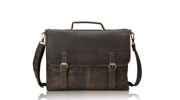 best laptop leather sling bag