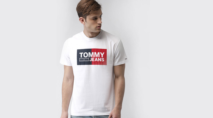 best tommy printed white t-shirt