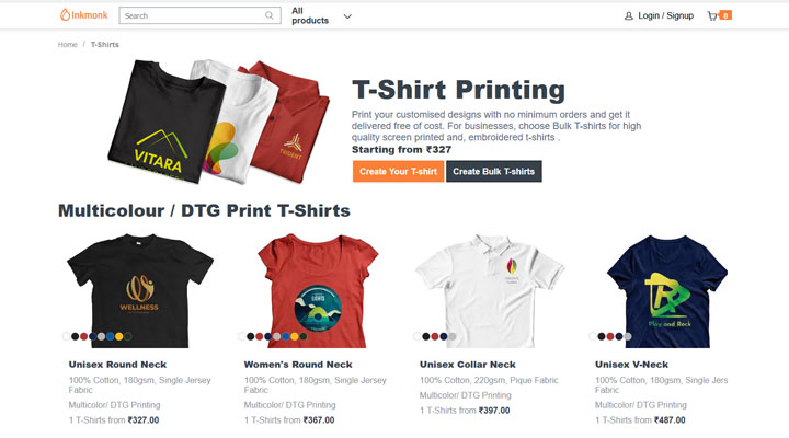 best customized tshirt printing delhi