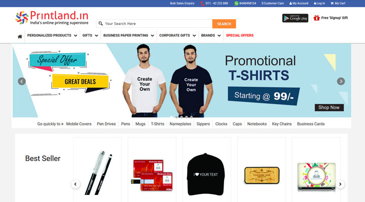 customized tshirt printing company india